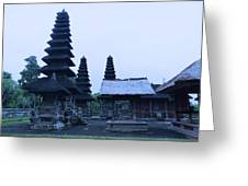 Balinese Temple On Side Greeting Card