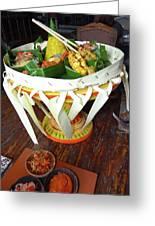 Balinese Traditional Dinner Basket Greeting Card