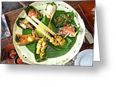 Balinese Traditional Satay Dinner Greeting Card