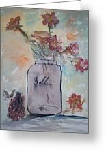 Ball Jar Vase Greeting Card