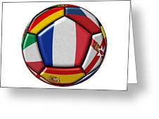 Ball With Flag Of France In The Center Greeting Card