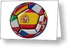 Ball With Flag Of Spain In The Center Greeting Card