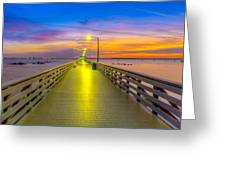 Ballast Point Sunrise - Tampa, Florida Greeting Card