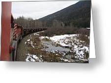 Ballast Train Greeting Card