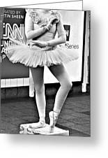 Ballerina B W Greeting Card