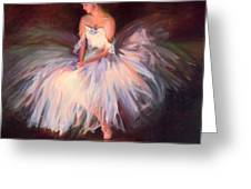 Ballerina Ballet Dancer Archival Print Greeting Card