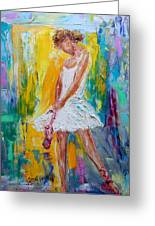 Ballerina Before The Dance Greeting Card
