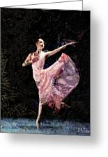 Ballerina Dancing Expressive Greeting Card