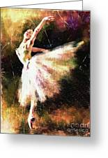 Ballerina Girl Greeting Card