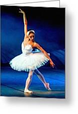 Ballerina On Stage L B Greeting Card