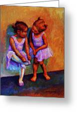 Ballerina Secrets Greeting Card by Jeanne Young