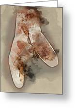 Ballerina Shoes - By Diana Van Greeting Card