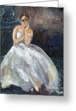 Ballerina Waiting Greeting Card