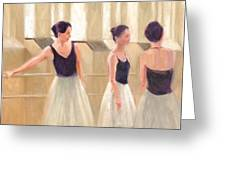 Ballerinas Waiting Greeting Card