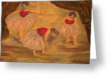 Ballerinas With Blue Hair Greeting Card