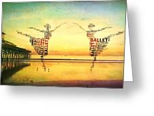 Ballet At The Pier Greeting Card
