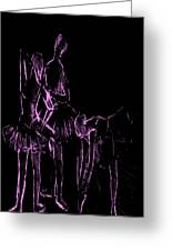 Ballet Before The Curtain Rises  Greeting Card