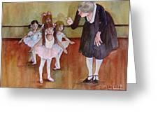 Ballet Class Greeting Card