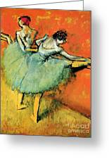 Ballet Dancers At The Barre Greeting Card