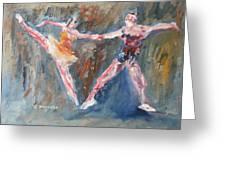 Ballet Dancers Heart Greeting Card