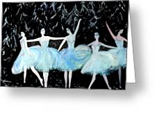 Ballet In Blue Greeting Card