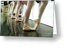 Ballet In Studio Greeting Card by Chiara Costa