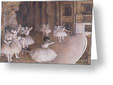 Ballet Rehearsal On The Stage Greeting Card