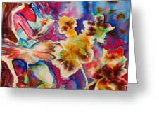 Ballet With Orchids Greeting Card