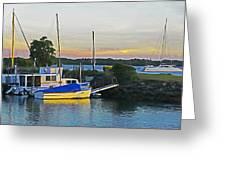 Ballina Boats Greeting Card