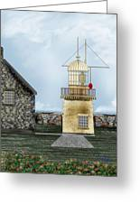 Ballinacourty Lighthouse At Waterford Ireland Greeting Card