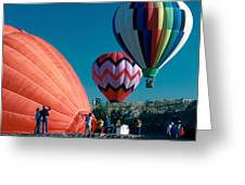 Ballon Launch Greeting Card