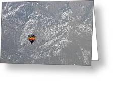Ballon Verses Mountain Greeting Card