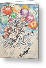 Balloon Flight  Greeting Card