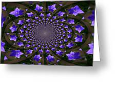 Balloon Flower Kaleidoscope Greeting Card