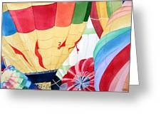Balloon Launch Greeting Card