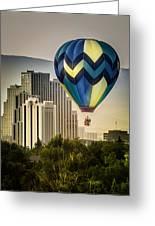 Balloon Over Reno Greeting Card