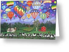 Balloon Race Two Greeting Card