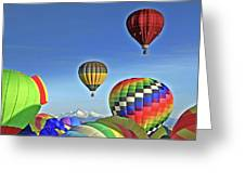 Ballooning Above Longs Peak Greeting Card