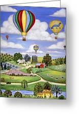 Ballooning In The Country One Greeting Card