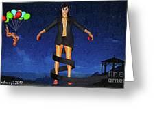 Balloons And Surrealism Greeting Card