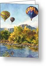 Balloons At Twin Lakes Greeting Card