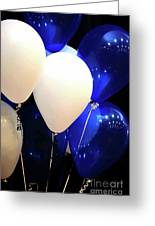 Balloons Of Blue And White Greeting Card