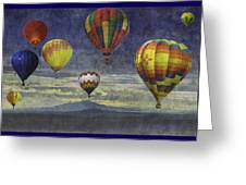 Balloons Over Sister Mountains Greeting Card