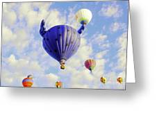 Balloons Overhead Greeting Card