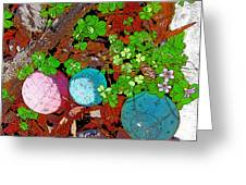 Balls And Clover Greeting Card