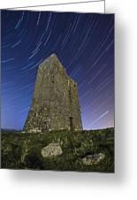 Ballybrit Castle Star Trails Greeting Card