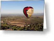 Baloon Riding  Over Temecula Ca Greeting Card