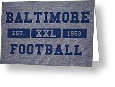 Baltimore Colts Retro Shirt Greeting Card