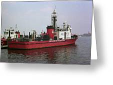 Baltimore Fire Boat 2003 Greeting Card
