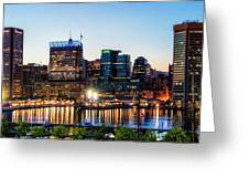 Baltimore Inner Harbor Reflections Greeting Card
